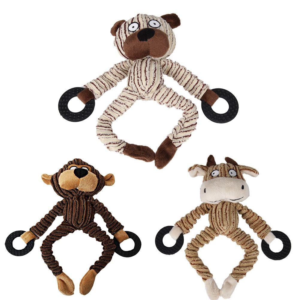 3 Designs Dog Toys Plush Pet Puppy Chew Squeaker Squeaky Plush