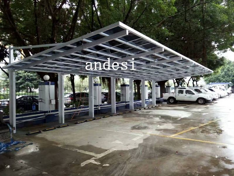 cantilever carport with white frame Cantilever carport