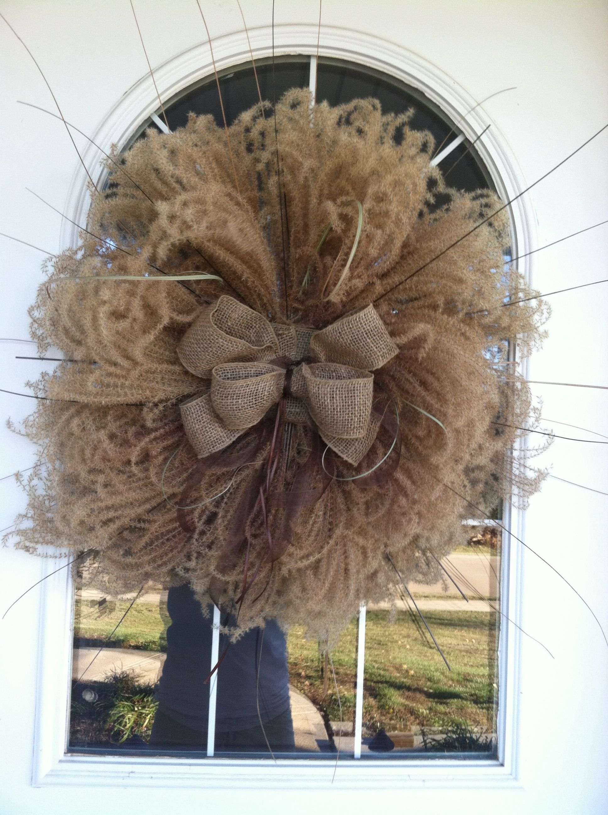 Love The Softness Of This Pampas Grass Fall Wreath Fall
