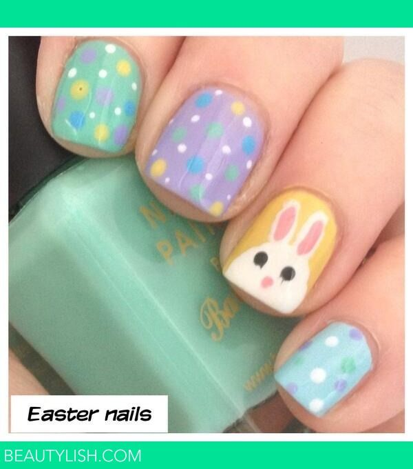 Cute Easter Bunny Nails | Nails | Pinterest