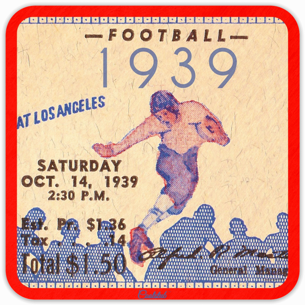 Best Gift Ideas October 2019 October 14, 1939 Ticket Stub Coasters by Coolstub™ in 2019 | Best