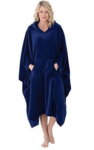PajamaGram Fleece Robes for Women Plush Bath Robe Womens