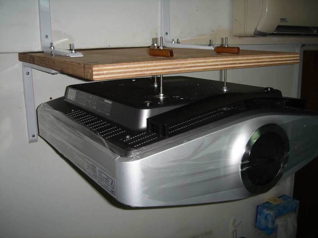 Homemade Projector Shelf Diy Projector Projector Shelf