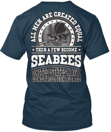 f4f37e1f3fc Seabee T-shirt by Calling All Vets