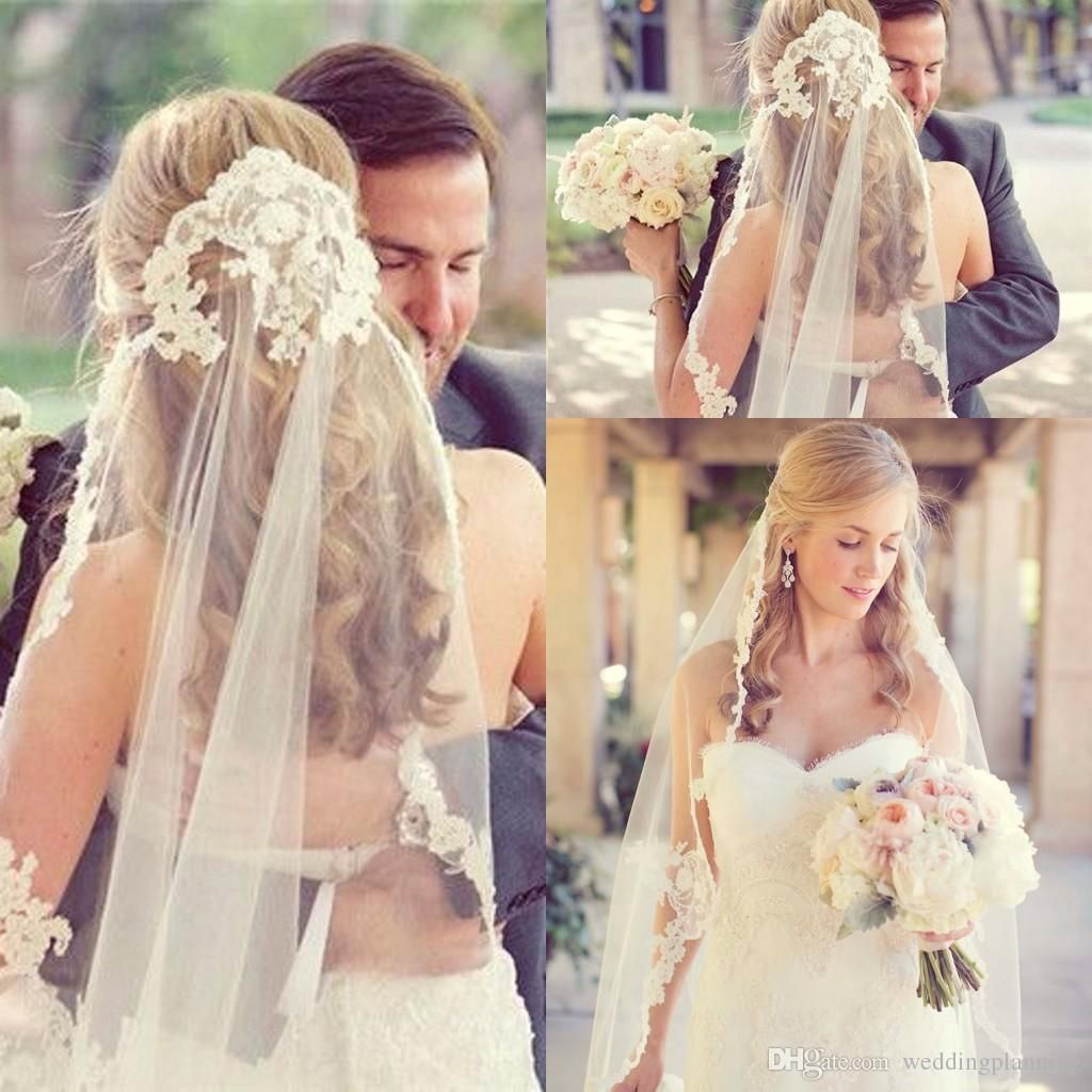 Wedding Hairstyle Price List: Bridal Wedding Veils Cheap Lace Vintage White Ivory Tulle