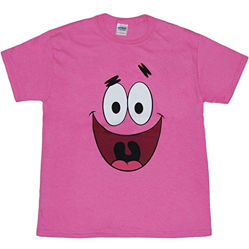 c4dd90f060a SpongeBob  Patrick Star Face Youth Kids T-Shirt-Youth Large  14 16     niftywarehouse.com