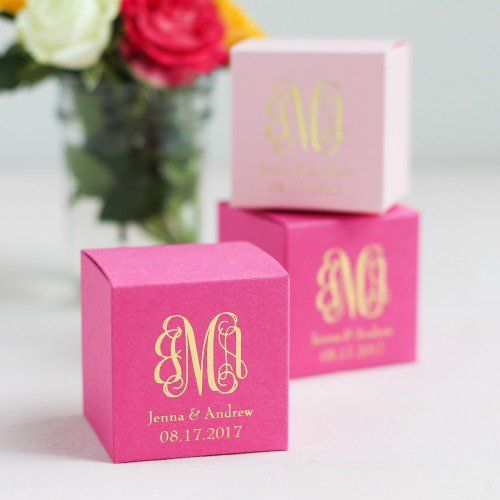 Personalized Favor Box, Personalized Cube Favor Box, Personalized Square Favor Boxes, Personalized Favor Boxes
