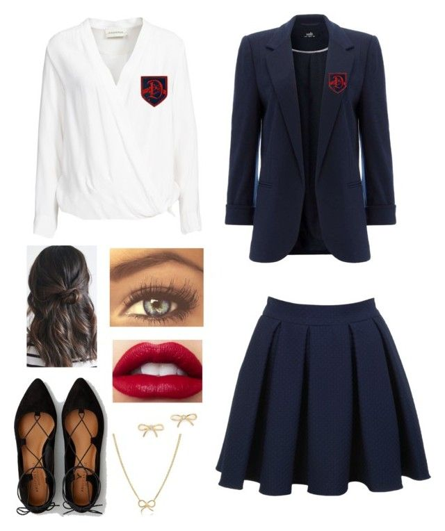 """""""Dalton Academy"""" by danii1d ❤ liked on Polyvore featuring By Malene Birger, American Eagle Outfitters, Miss Selfridge, Kate Spade and Adina Reyter"""