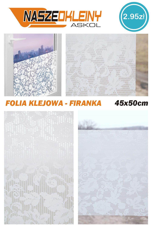 Folia Okienna Samoprzylepna Firanka 45x50 R36 5697671725 Oficjalne Archiwum Allegro