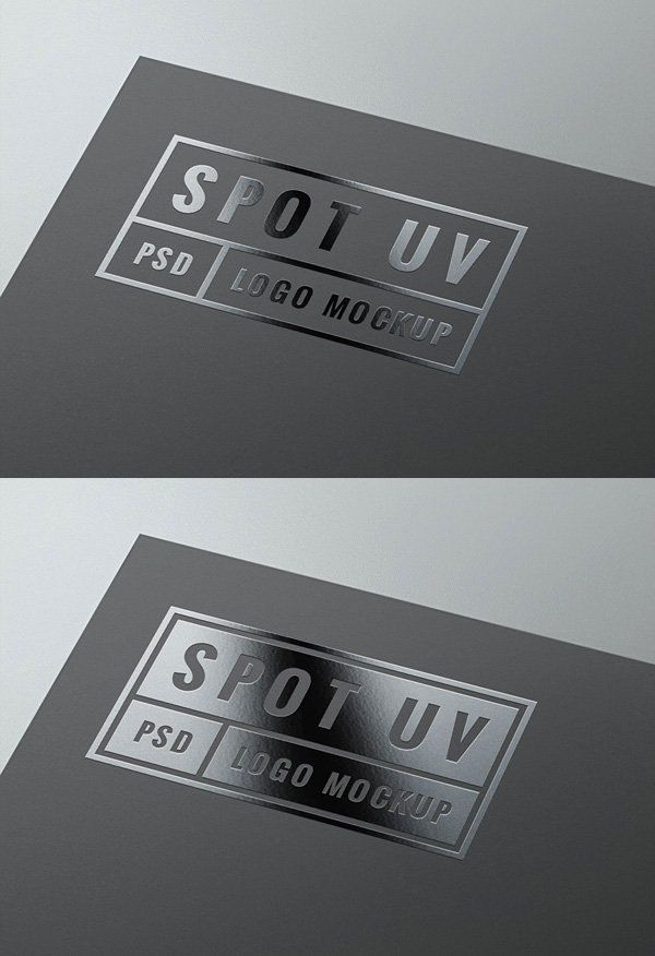 Awesome PSD mockup that simulate the look of spot UV gloss. Add a ...