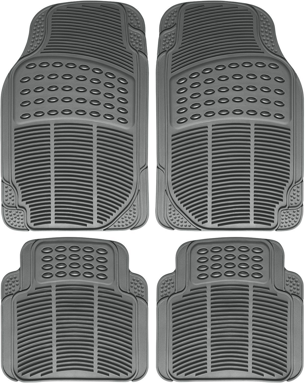 All Weather Heavy Duty Rubber Floor Mats Semi Custom 4pc