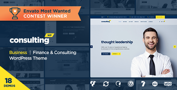 Theme Consulting 3.5.4 – Business, Finance WordPress Theme ...