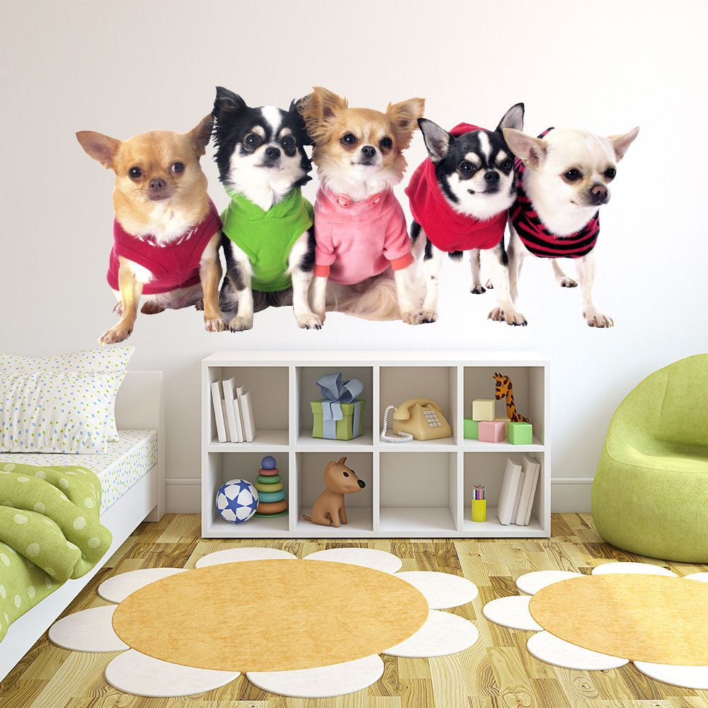 Chihuahua Puppy Dogs Wall Sticker WS-43107