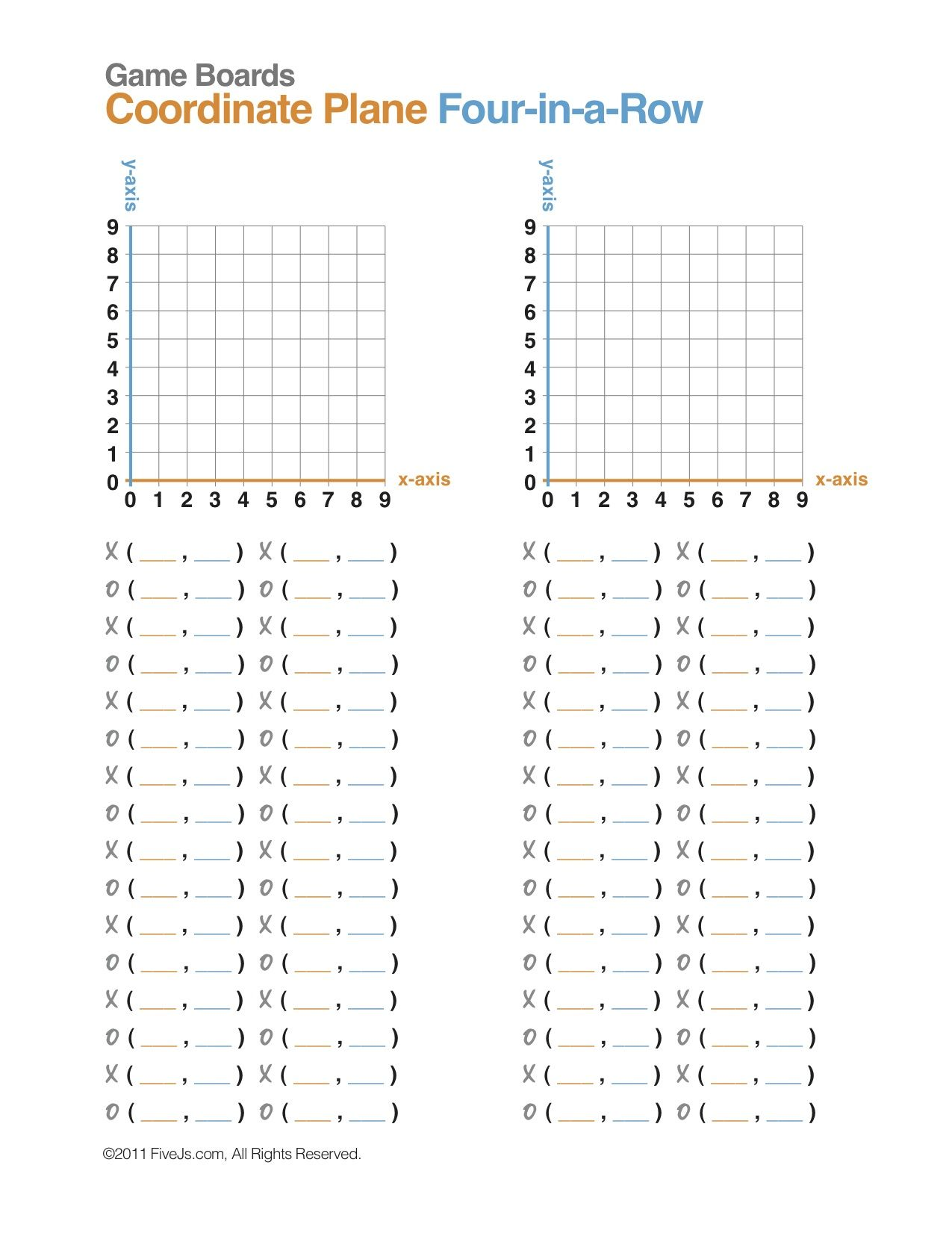 Distance On A Coordinate Plane Worksheet