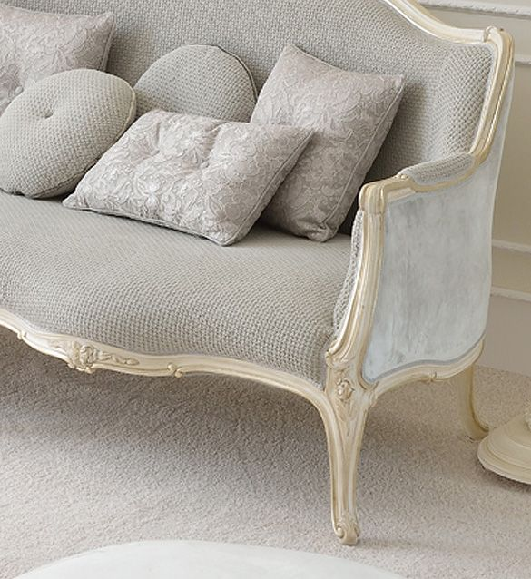 Venetian Style Soft Grey Designer Sofa Juliettes Interiors Sofa Design Classic Sofa Victorian Sofa