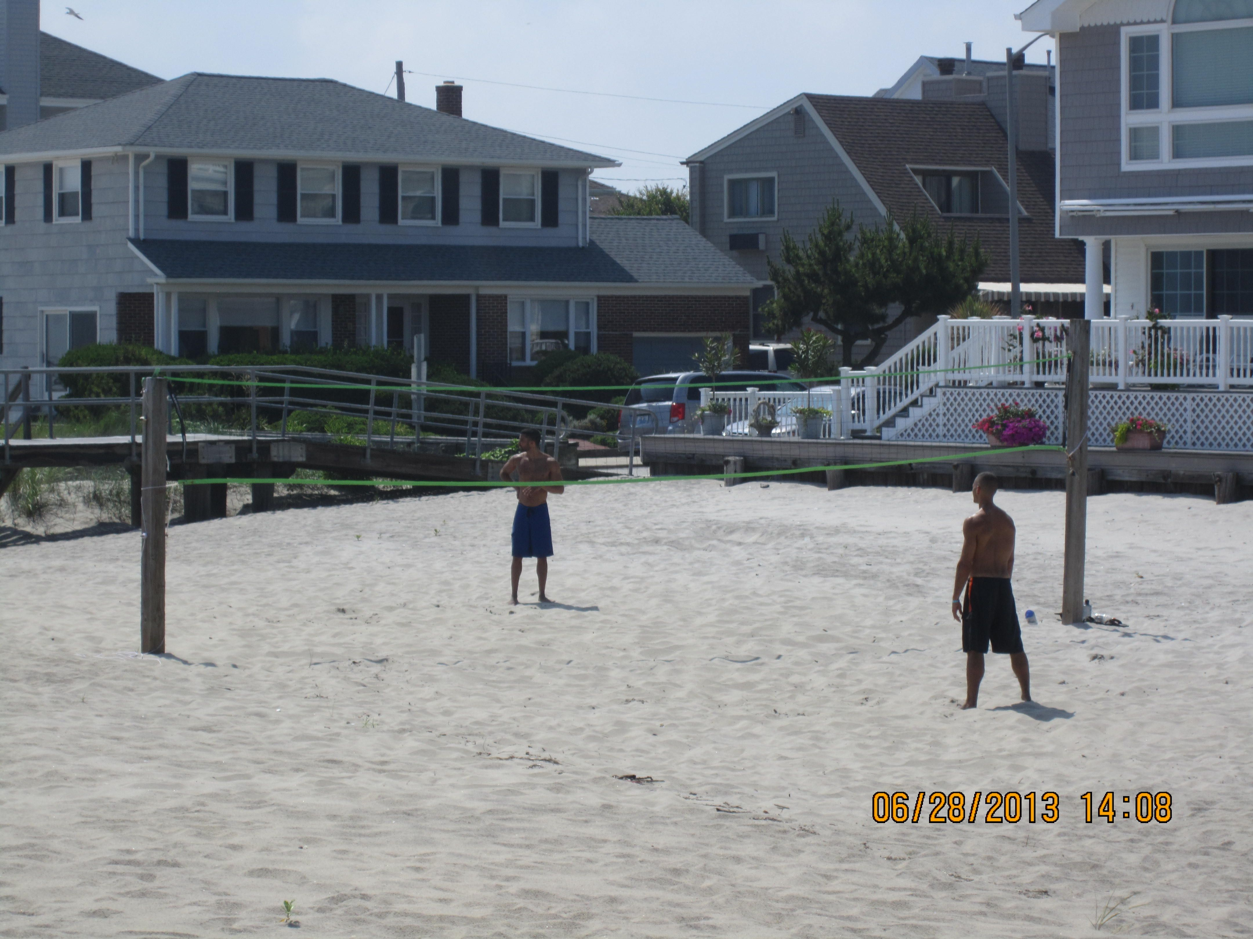 Beach Volleyball Anyone Can Play Scenes Street View Beach