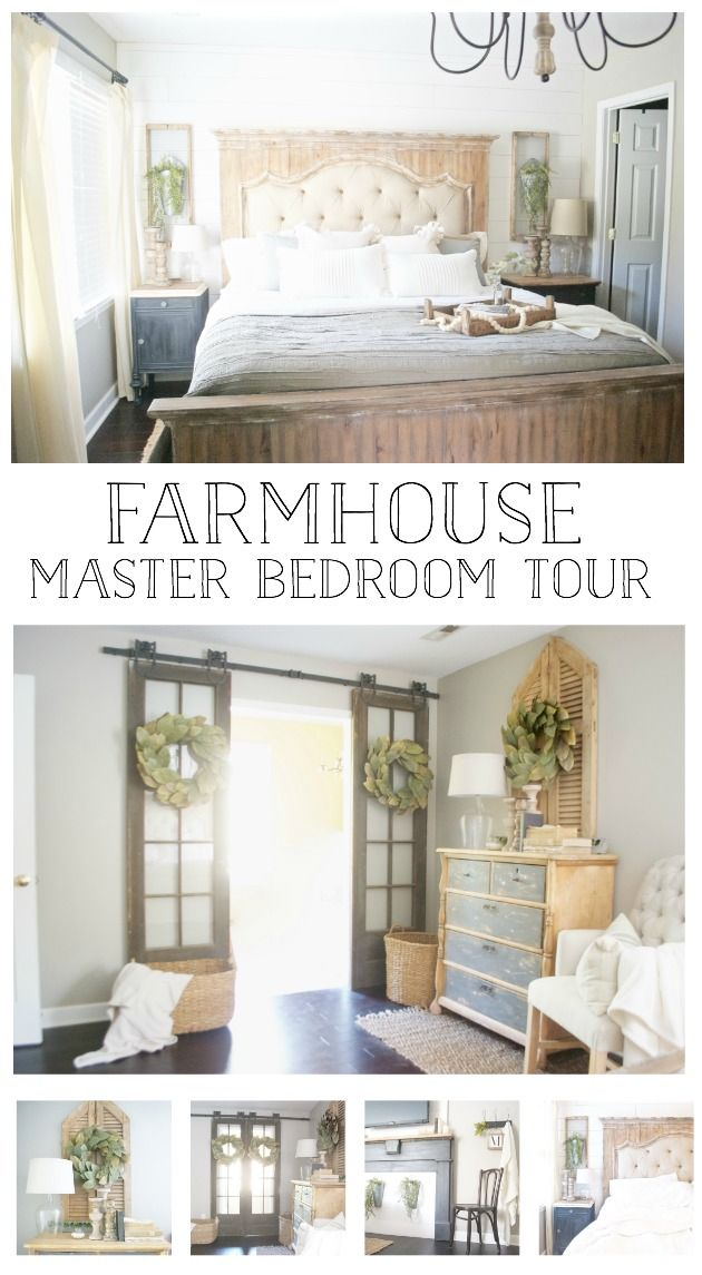 Farmhouse Style Bedroom Tour Links To Recreate This Look Farmhouse Bedroom Decor Master Bedrooms Decor Remodel Bedroom