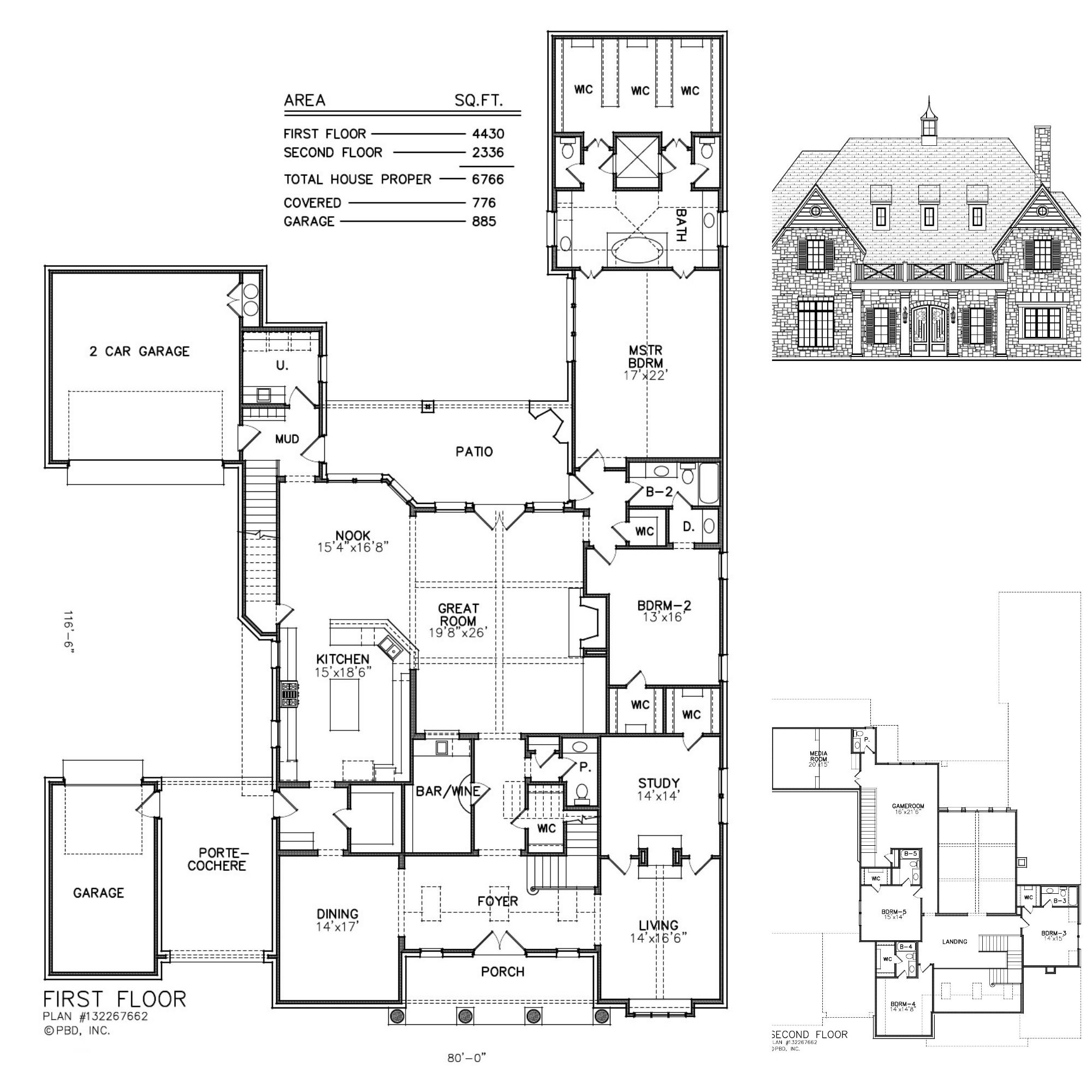 A Large 5 Bedroom Floor Plan With A Spacious Master Bath And Closet Media Room Over The Garage To Limit T Bedroom Floor Plans Custom Home Designs Floor Plans