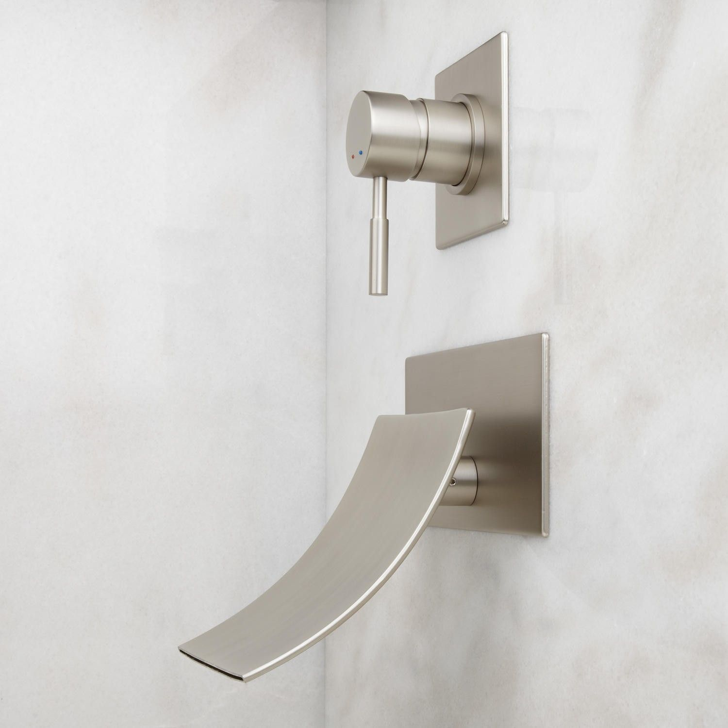 Reston Wall Mount Waterfall Tub Faucet Wall Mount Faucet and Tubs