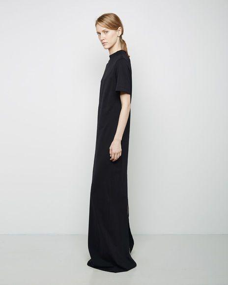 black maxi t-shirt dress #style #fashion #classic