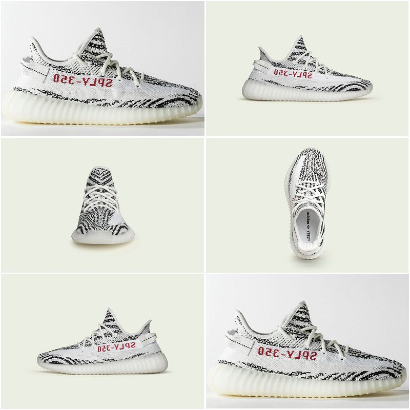 93653bcd0a526 New Arrival adidas Yeezy Boost 350 V2 White Core Black Red Zebra CP9654  February 25 2018 Online