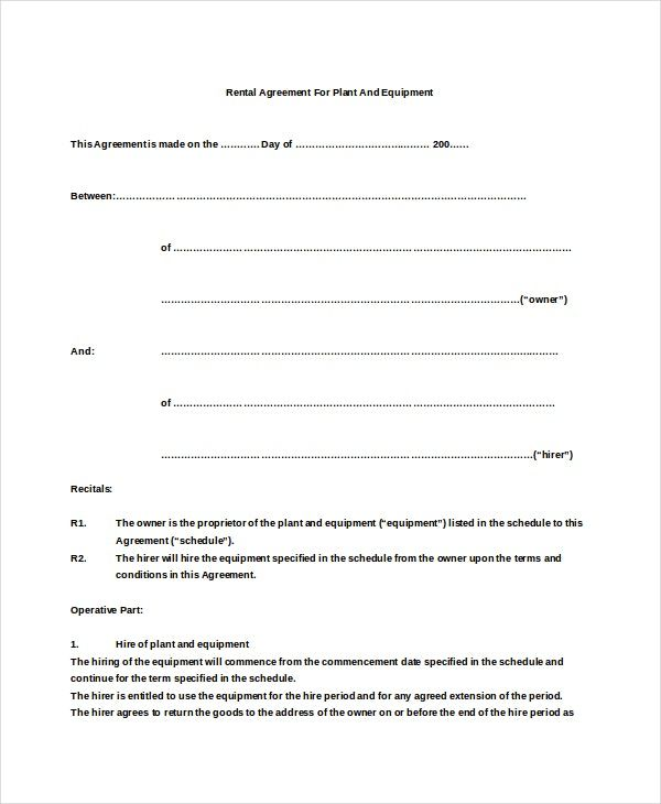 Basic rental agreement template futuristic photograph sample plant