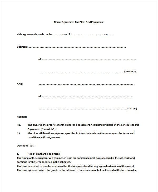 Basic rental agreement template futuristic photograph sample plant - basic rental agreement letter template
