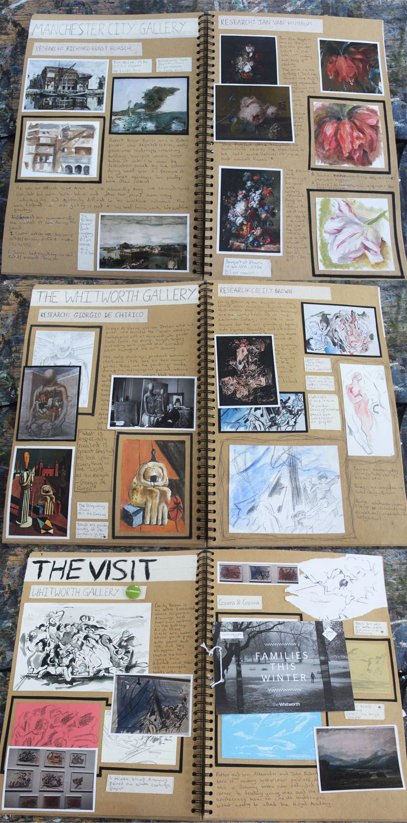 Al Fine Art A3 Brown Sketchbook Trip Planning