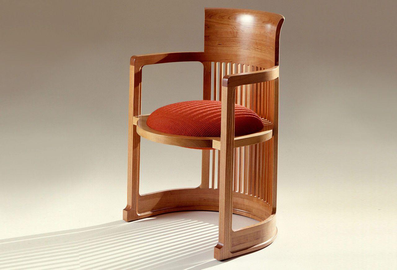 Sillón De Estilo Art Deco Frank Lloyd Wright 606 Barrel