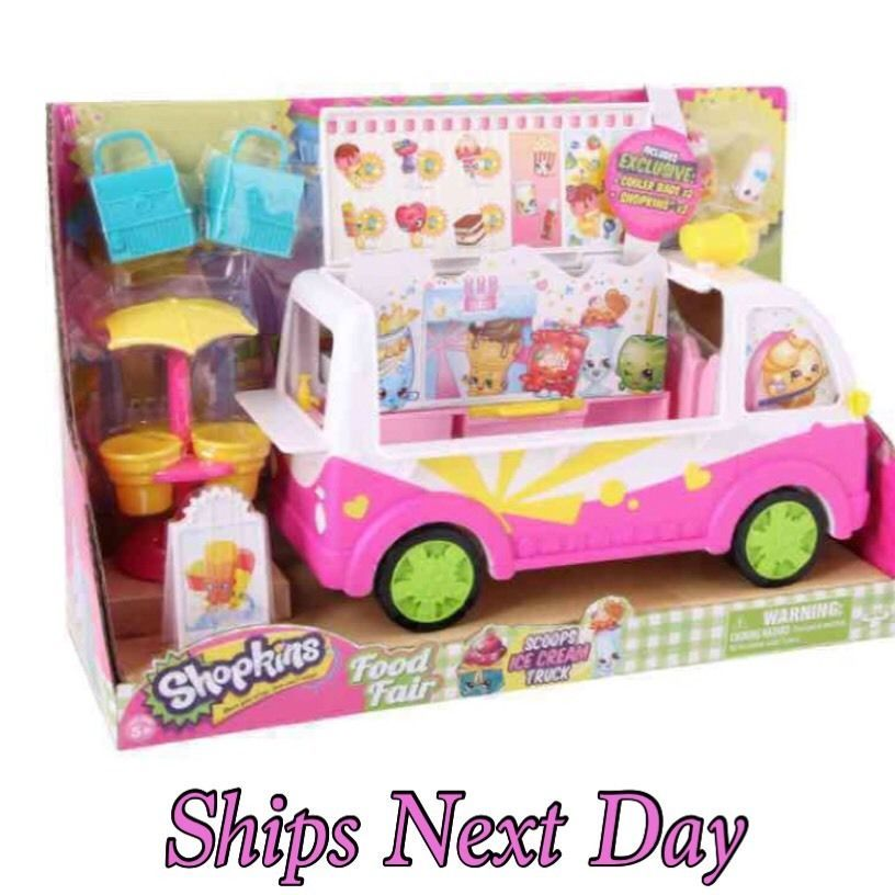(NEW) Shopkins Scoops Ice Cream Truck Playset Exclusive Cooler Bags / Shopkins  #MooseToys