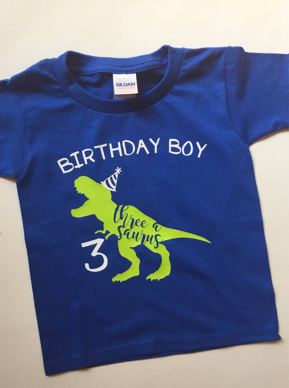 Dinosaur Birthday T Shirt Toddler Party Child Rex