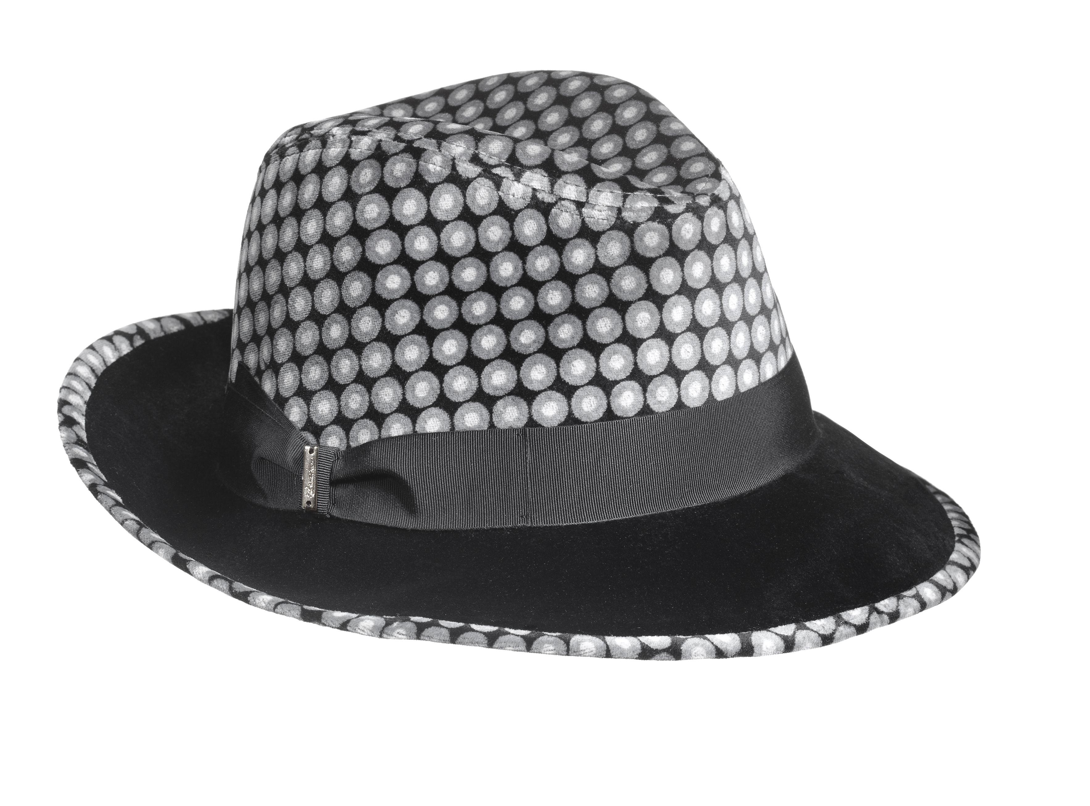 Borsalino cappello in tessuto optical forma borsalino ala media a