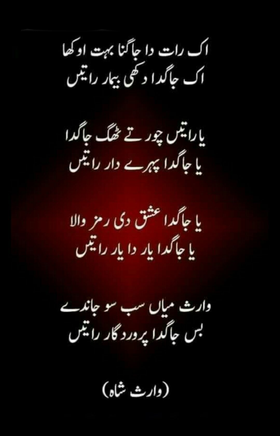 Heer Waris Shah in Punjabi (Index)