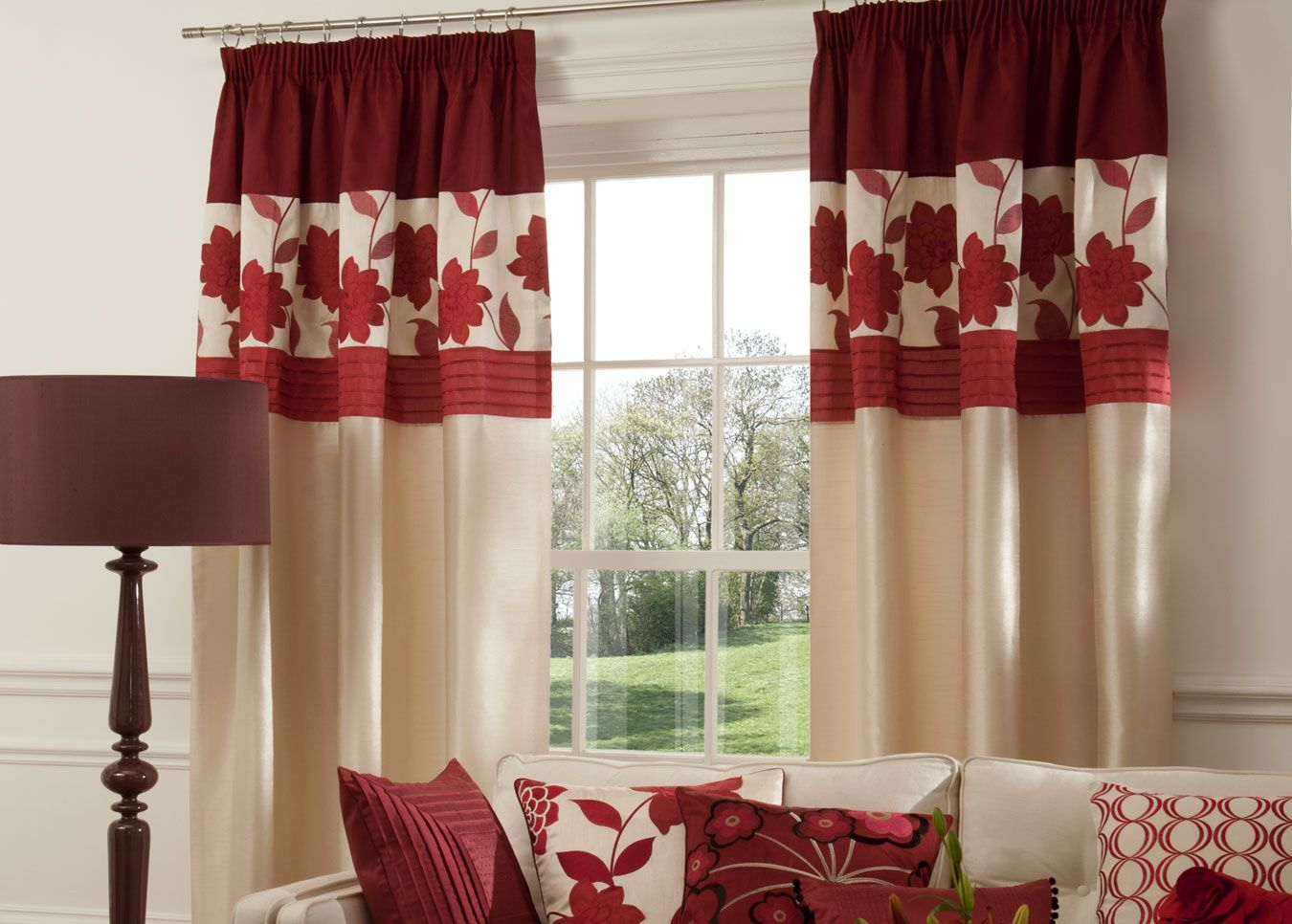 Good Maroon Curtains For Living Room