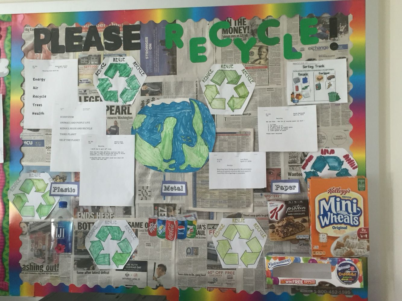 Reduce Reuse Recycle Board