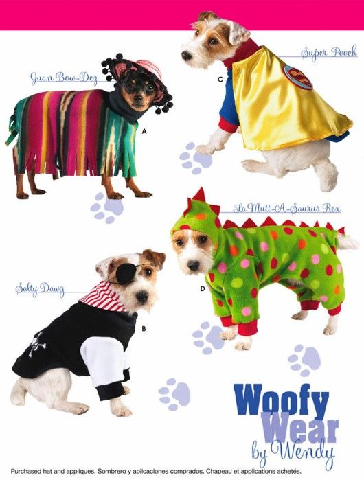 Dog Halloween Costume Sewing Pattern Woofy Wear Dogs Dinosaur