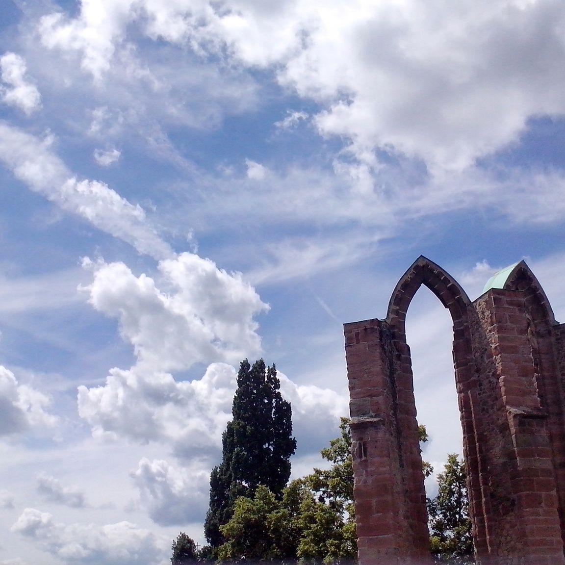 Zřícenina kláštera minoritů. Benešov. Trip, Clouds, Outdoor