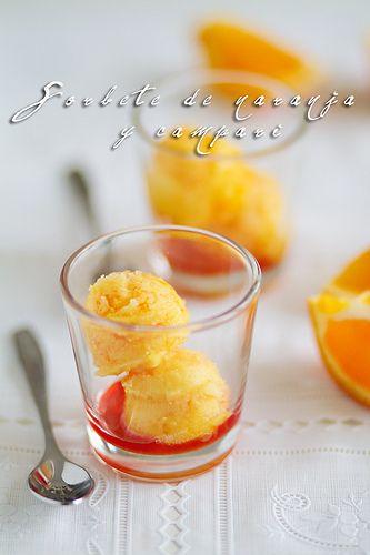 Sorbete De Naranja Y Campari De Amiloquemegustaescocinar Sorbete De Naranja Sorbete Recetas Fáciles