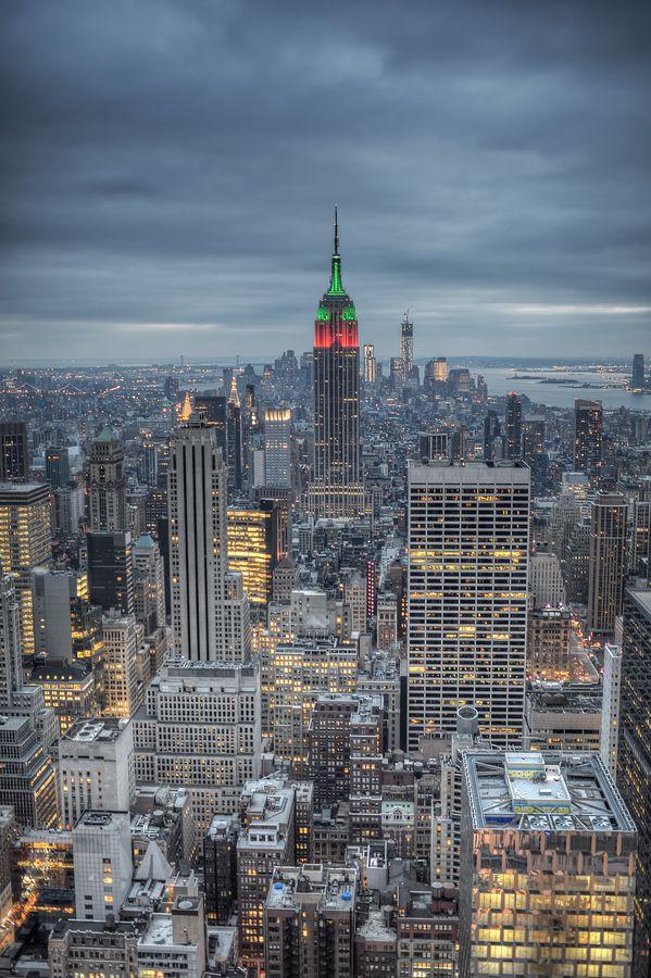 Christmas over NYC