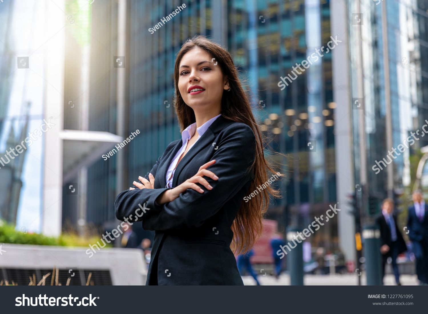 Confident Business Woman Portrait In The City Of London