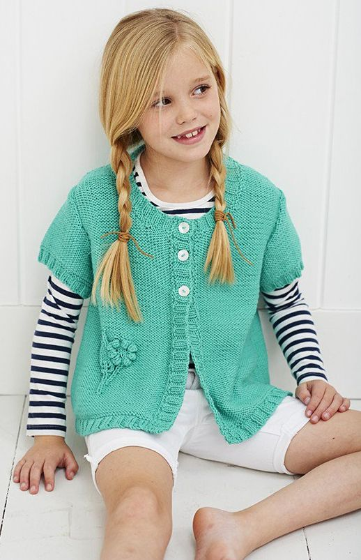 Knitting pattern for Round Necked Cardi sweater for ...