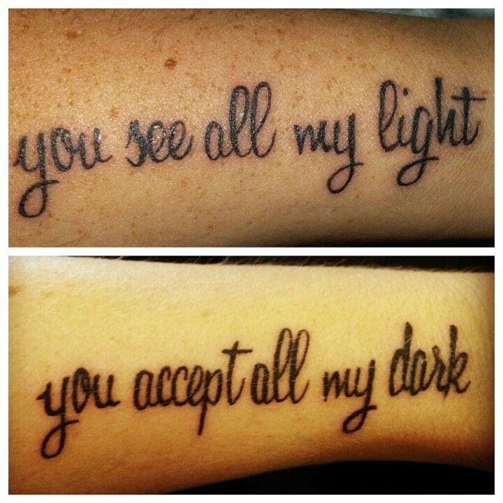 Tattoo Quotes For Friends: Me And My Best Friends Tattoos We Have On The Inside Of