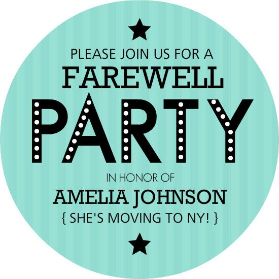 photo relating to Free Printable Going Away Party Invitations referred to as Farewell Bash The Intersect 2.5 Farewell occasion