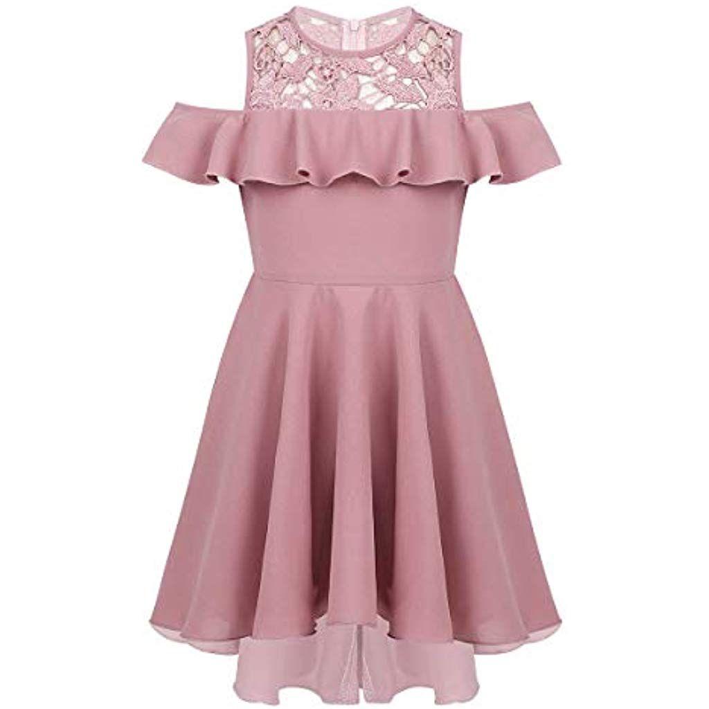 Vestiti Cerimonia 14 Anni.Agoky Bambina Vestito Da Principessa Damigella In Pizzo Ricamo