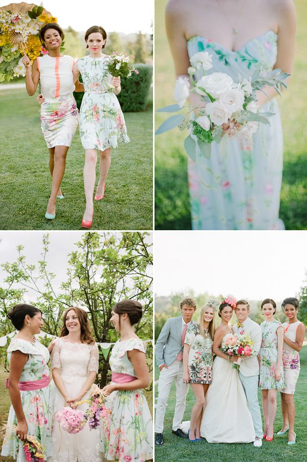 77eb2f08fa0 Love Blooms! Romantic Floral Bridesmaid Dresses Your Girls Will Love ...