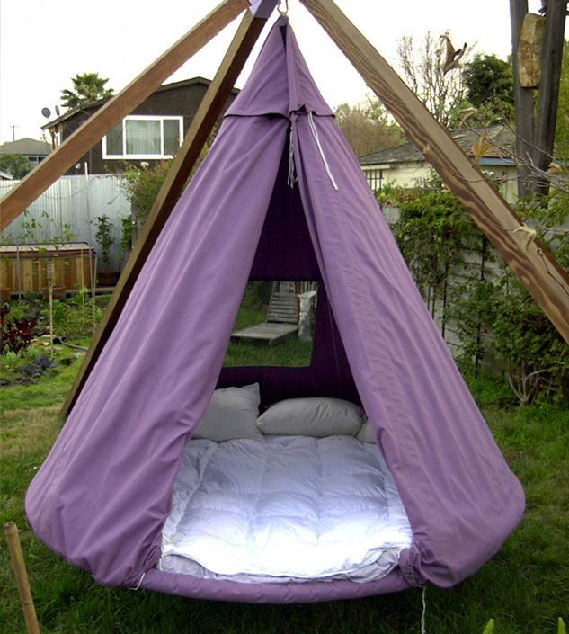 Hanging Outdoor Bed Tent (Waterproof cover) Love sleeping ...