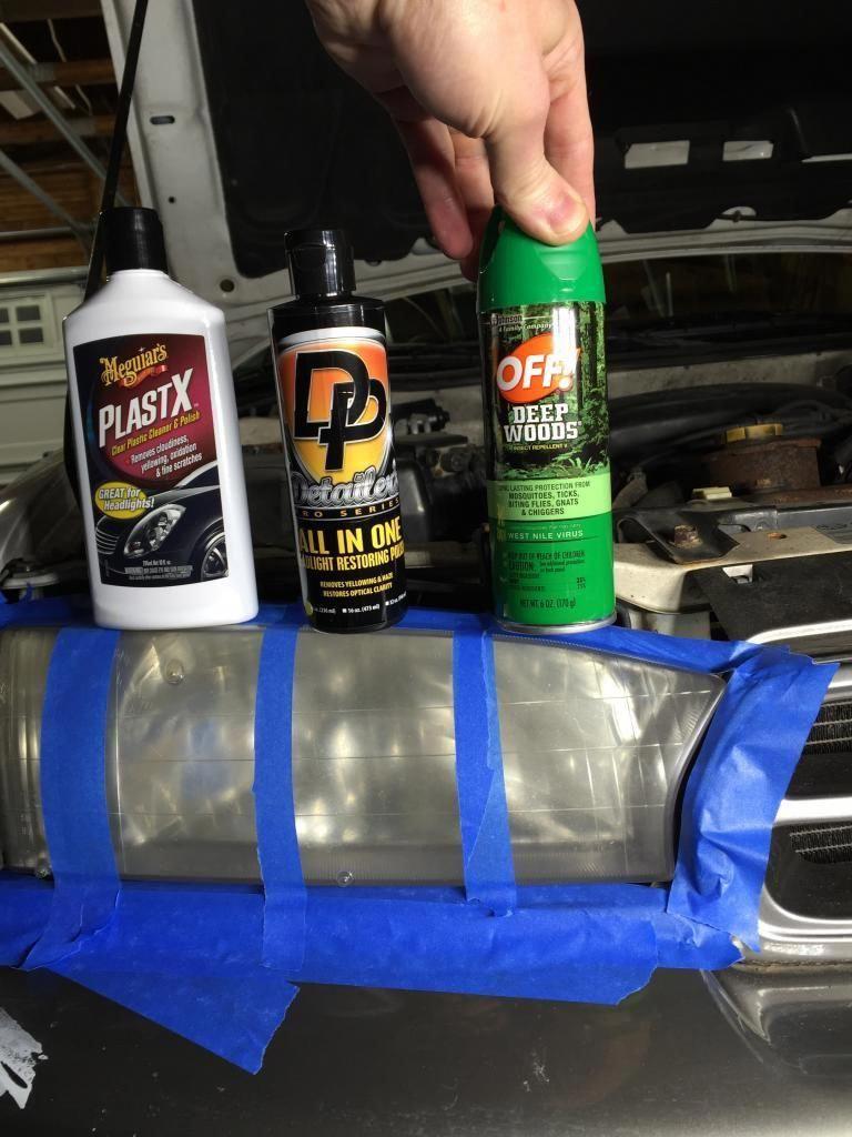Headlight lens restoration bug spray trick vs dps aio