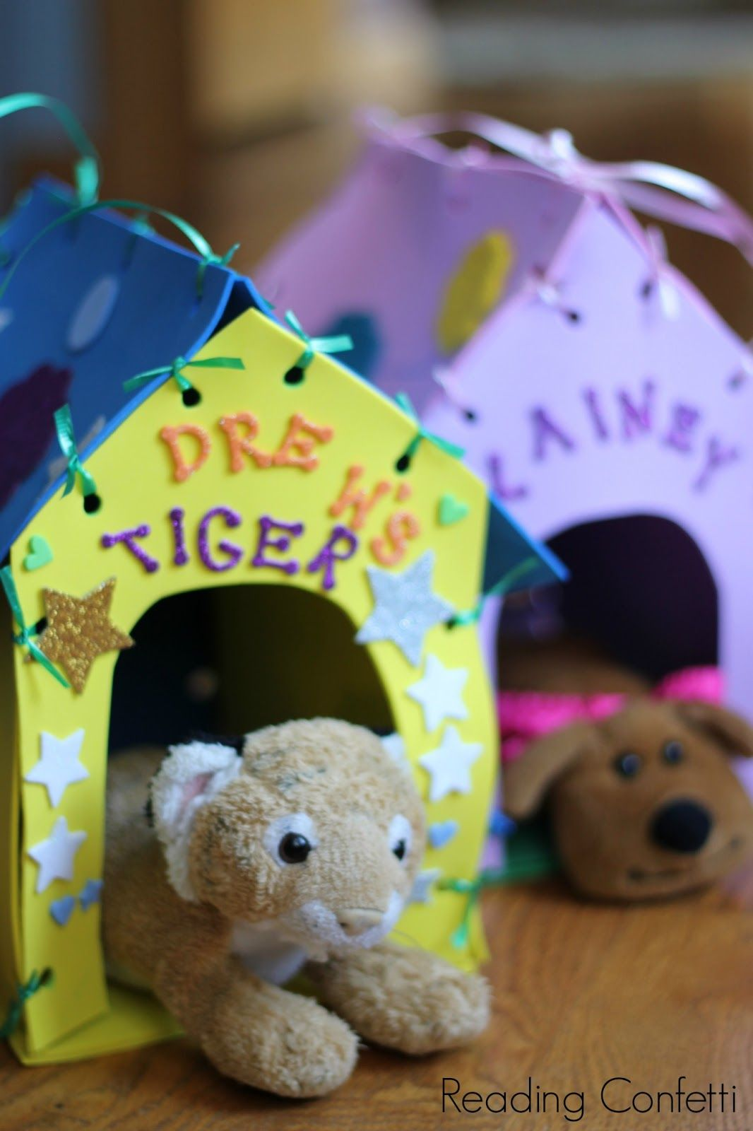 Make Your Own Stuffed Animal House And Carrier Reading Confetti Pet Adoption Birthday Party Pet Adoption Party Kitten Birthday [ 1600 x 1066 Pixel ]
