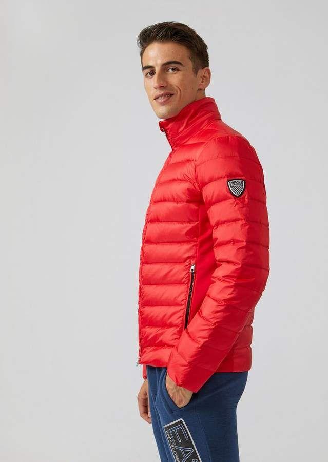 72b7419291 Emporio Armani Ea7 Padded Windproof Technical Fabric Jacket ...