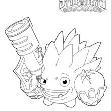 Skylanders Trap Team Coloring Pages Food Fight With Images